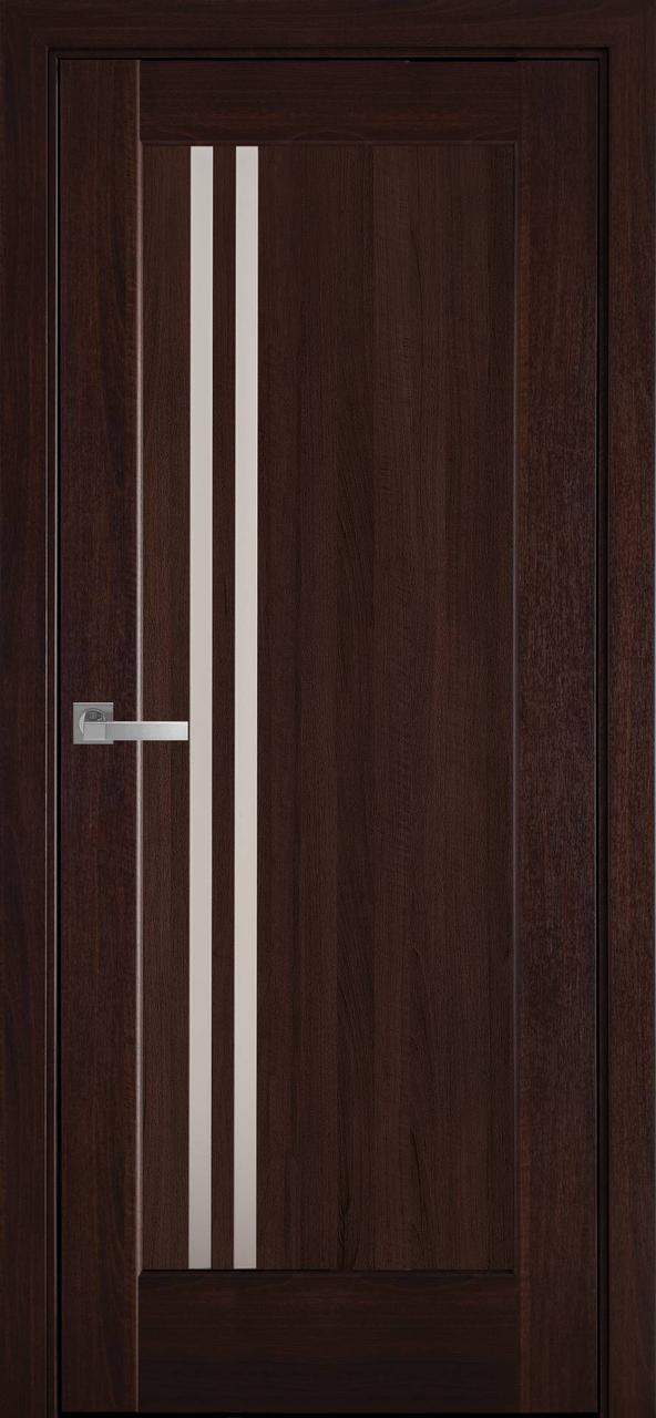 """Дверь межкомнатная """"Новый Стиль"""" модель Делла, каштан (со стеклом)"""