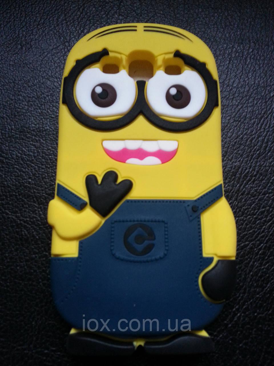 Силиконовый чехол Миньон на Samsung Galaxy S3 i9300, фото 1