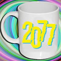 """Белая кружка (чашка) с принтом """"Cyberpunk (2077)"""""""
