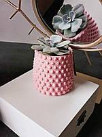 """Кашпо """"bubble cup"""" из бетона 9,5см с пупырками вазон ваза подсвечник стакан подставка корпоративный подарок"""