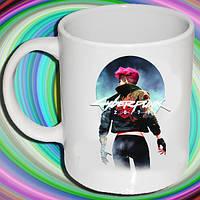 """Біла кружка (чашка) з принтом """"Cyberpunk"""""""