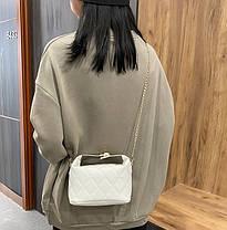 Стильна стьобаний сумка хобо оригінального дизайну, фото 3