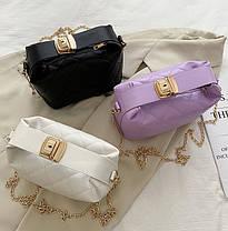 Стильна стьобаний сумка хобо оригінального дизайну, фото 2