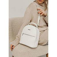 Шкіряний жіночий міні-рюкзак Kylie білий