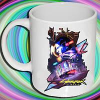 """Біла кружка (чашка) з принтом """"Cyberpunk 2"""""""