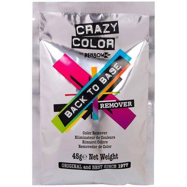 Crazy Color. Back To Base Remover. Смывка, возвращение к базовому блонду, 45 гр.