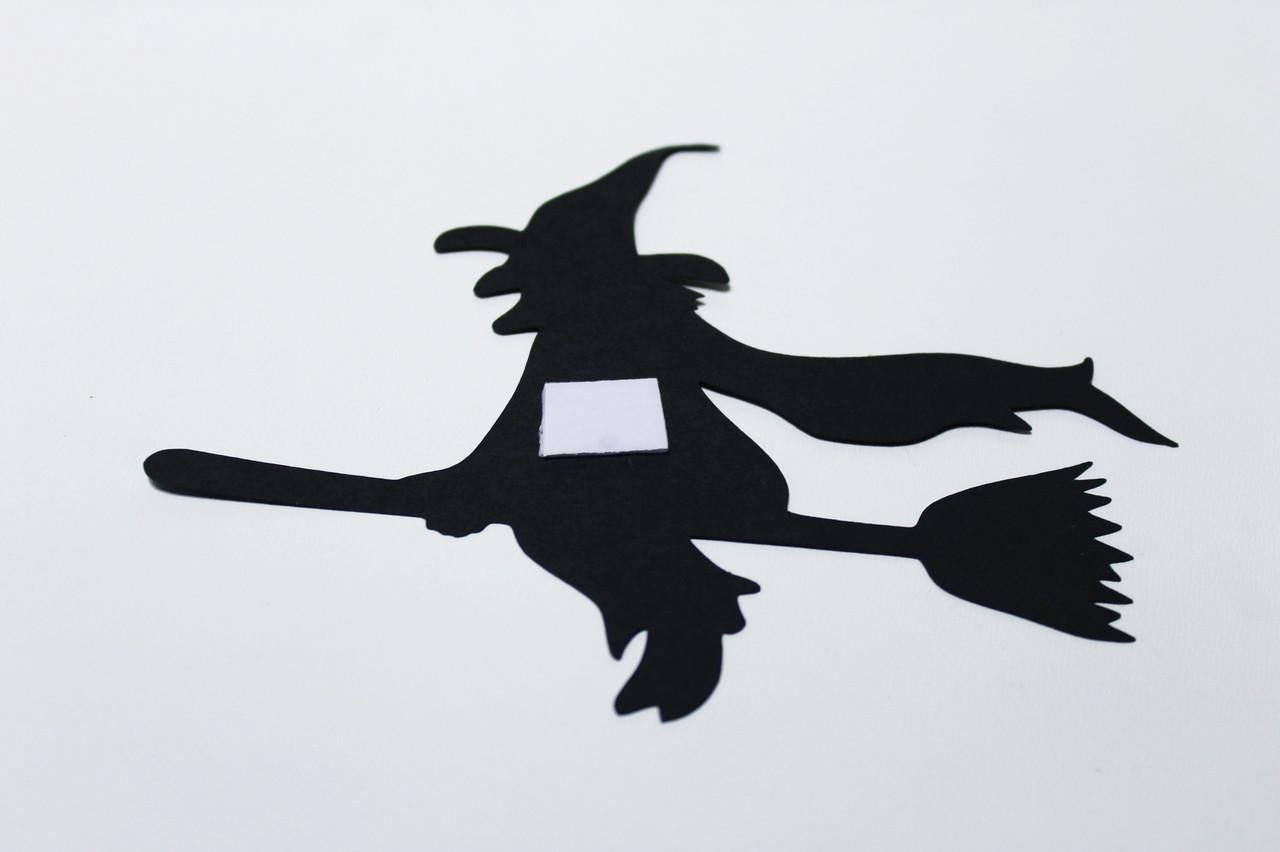 Бумажная Ведьма на двухстороннем скотче 25 см
