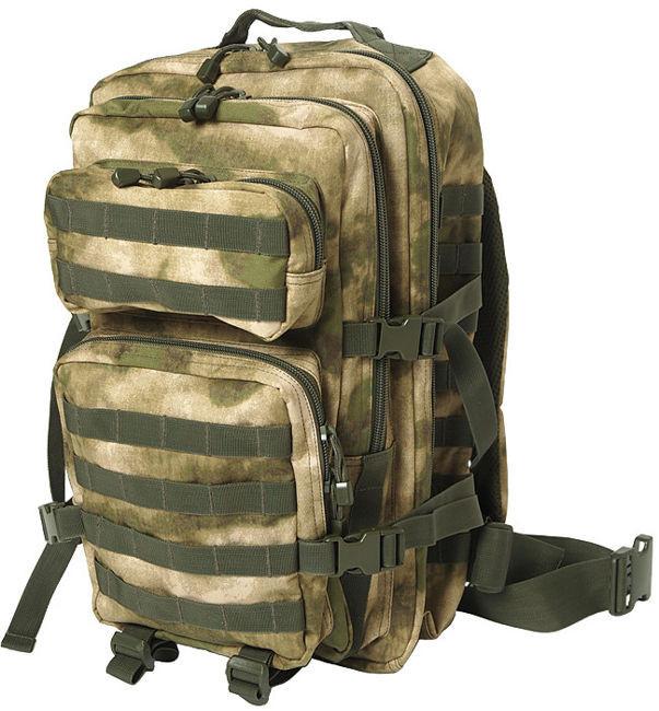 Штурмовой рюкзак 36л система Molle MilTec Assault камуфляж A-TACS FG 14002259