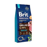 Brit Premium Sensitive Lamb & Rice с ягненком и рисом для собак всех пород, 15 кг