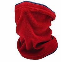 Зимний теплый бафф снуд флисовый спортивный женский мужской шарф труба