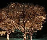Гирлянда Клип-лайт 100 м, 1000 теплых белых LED ламп, черный ПВХ, IP64, теплый белый, фото 4