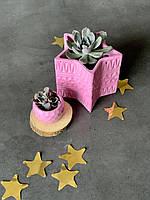 """Декоративное кашпо """"star """" 9,5см вазон в форме звезды звесзда новый год подсвечник корпоративный подарок"""