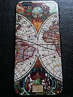 Пластиковый чехол c картой для Iphone 6