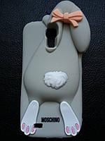Серый Зайчик Samsung S4 чехол Moschino, фото 1