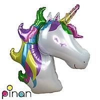 Фольгированный шар 38 Pinan Единорог в упаковке, 96 см