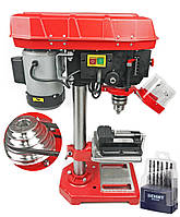 Сверлильный станок LEX LXDP16 МОЩНОСТЬ 1600 W металлические шкивы в подарок тиски и набор сверл