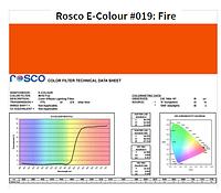 Фильтр Rosco E-Colour+ 019 Fire Roll (60192), фото 1