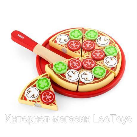 Іграшкові продукти Viga Toys Піца з дерева (58500)