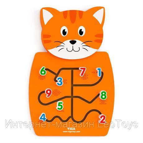 Бизиборд Viga Toys Котик з цифрами (50676)