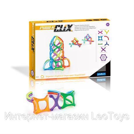 Магнітний конструктор Guidecraft PowerClix Organics, 26 деталей (G9430)