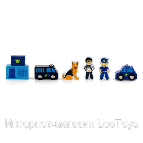 Набор для железной дороги Viga Toys Полицейский участок (50814)