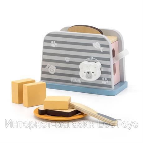 Игрушечный тостер Viga Toys PolarB из дерева (44017)