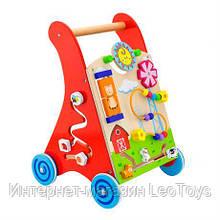 Дитячі ходунки-каталка Viga Toys з бизибордом (50950)