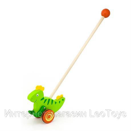 Деревянная каталка Viga Toys Динозаврик (50963)