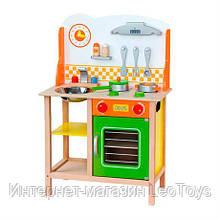 Дитяча кухня Viga Toys з дерева з посудом (50957)