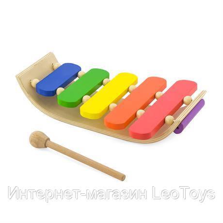 Музыкальная игрушка Viga Toys Деревянный ксилофон, 5 тонов (59771)