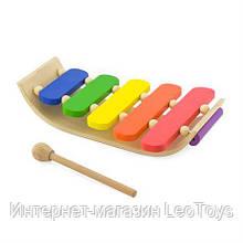 Музична іграшка Viga Toys Дерев'яний ксилофон, 5 тонів (59771)