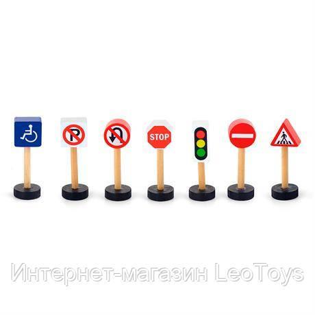 Набор для железной дороги Viga Toys Дорожные знаки (50817)