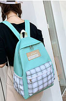 Стильний рюкзак в клітку для школи, фото 2