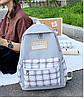 Стильний рюкзак в клітку для школи, фото 4
