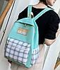 Стильний рюкзак в клітку для школи, фото 6