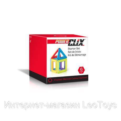 Магнитный конструктор Guidecraft PowerClix Frames Базовый набор, 6 деталей (G9480)