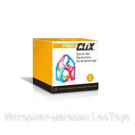 Магнітний конструктор Guidecraft PowerClix Organics Базовий набір, 6 деталей (G9482)