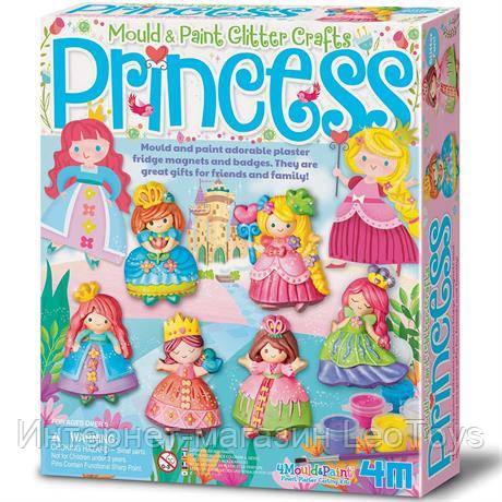 Набор для творчества 4M Магниты из гипса Принцессы (00-03528)