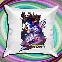 """Атласна подушка з принтом """"Cyberpunk 2"""" Push IT"""