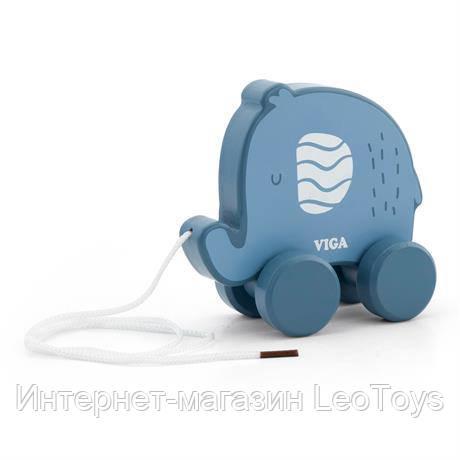 Деревянная каталка Viga Toys PolarB Слоник (44004)