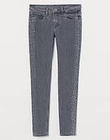 Джинсы H&M для девочки со стразами Skinny Fit Coupe Moulante 134 см