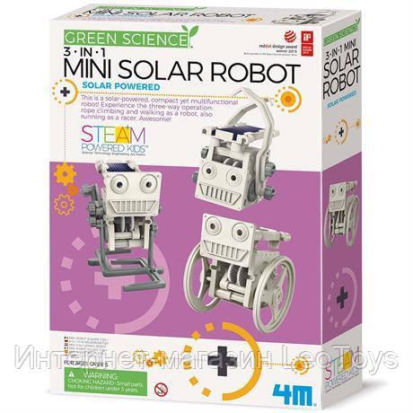 Научный набор 4M Робот на солнечной батарее 3-в-1 (00-03377)