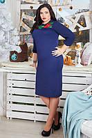 Модное платье большого размера с вышевкой