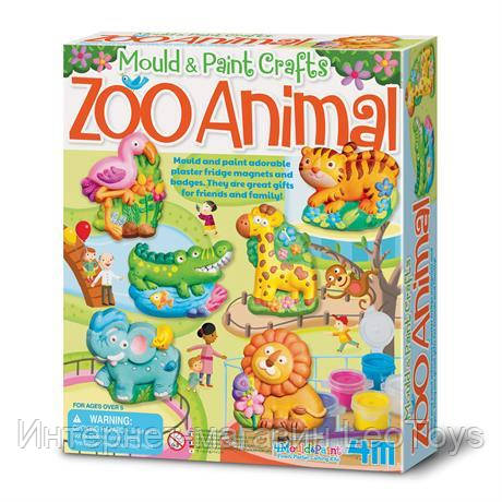 Набор для творчества 4M Магниты из гипса Зоопарк (00-04753)