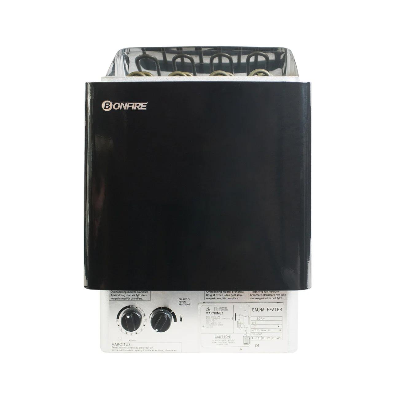 Настенная электрическая печь для сауны Bonfire SCA-45NS 4.5 кВт объем парной 3-6 м.куб