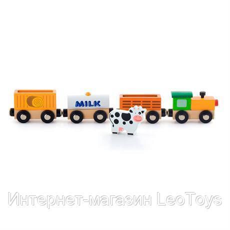 Набор для железной дороги Viga Toys Поезд-ферма (50821)