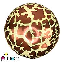 Фольгированный шар 18 Pinan Звериный принт жираф, 44 см
