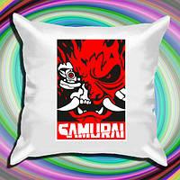 "Атласна подушка з принтом ""Cyberpunk (Samurai)"" Push IT"