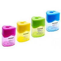 """Точилка для карандашей """"TIP TOCK"""" TT-798, двойная пластиковая, с контейнером"""