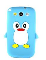 """Силиконовый голубой чехол """"Пингвин"""" Samsung S3(I-9300)"""